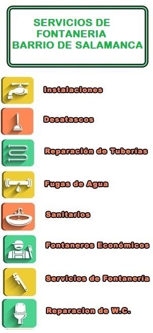 servicios de fontaneria en Barrio de Salamanca